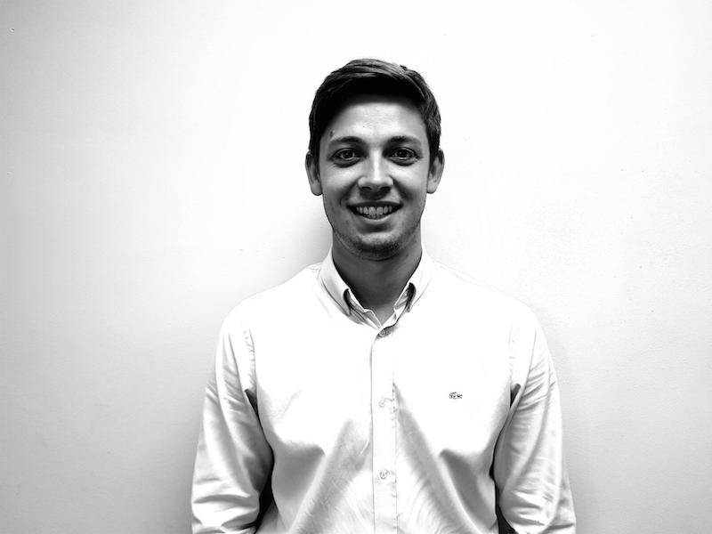 A black and white photo of area sales manager Steven Ford